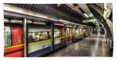 London Underground Hand Towel by David Pyatt