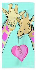Long Neck Love Hand Towel by Susie Cunningham