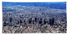 Los Angeles Hand Towel by Judi Saunders