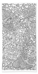 Love And Chrysanthemum Filled Hearts Vertical Hand Towel by Tamara Kulish