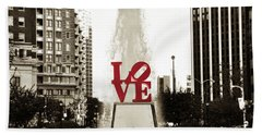 Love In Philadelphia Hand Towel by Bill Cannon