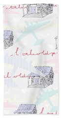 Love Shack Hand Towel by Beth Travers