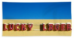 Lucky Lager Hand Towel by Todd Klassy