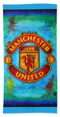 Manchester United Vintage Hand Towel by Dan Haraga