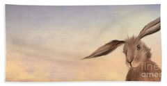 March Hare Hand Towel by John Edwards