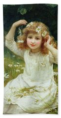 Marguerites Hand Towel by Frederick Morgan