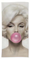 Marilyn Monroe Hand Towel by Vitor Costa