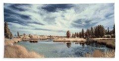 Marshlands In Washington Hand Towel by Jon Glaser