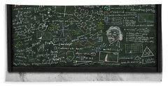 Maths Formula On Chalkboard Hand Towel by Setsiri Silapasuwanchai