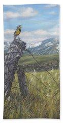 Meadowlark Serenade Hand Towel by Kim Lockman