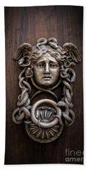 Medusa Head Door Knocker Hand Towel by Edward Fielding