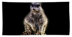 Meerkat Lookout Hand Towel by Martin Newman