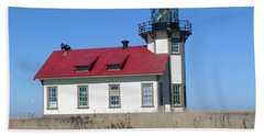 Mendocino Lighthouse Hand Towel by Sandy Taylor