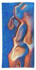 Merman Hand Towel by Joaquin Abella