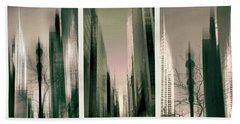 Metropolis Triptych Hand Towel by Jessica Jenney