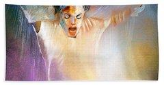 Michael Jackson 09 Hand Towel by Miki De Goodaboom