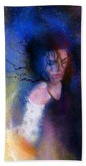 Michael Jackson 16 Hand Towel by Miki De Goodaboom