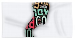 Michael Jackson I'm Bad Hand Towel by Marvin Blaine