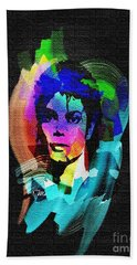 Michael Jackson Hand Towel by Mo T
