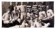 Michigan Wolverines Football Heritage 1888 Hand Towel by Daniel Hagerman