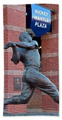 Mickey Mantle Hand Towel by Frozen in Time Fine Art Photography