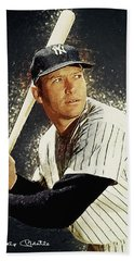 Mickey Mantle Hand Towel by Taylan Soyturk