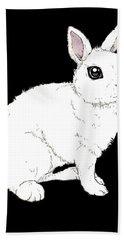Monochrome Rabbit Hand Towel by Katrina Davis