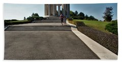 Hand Towel featuring the photograph Montsec American Monument by Travel Pics