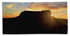 Bath Towel featuring the photograph Monument Valley, Utah, Sunrise by A Gurmankin