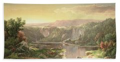 Mountain Lake Near Piedmont Hand Towel by William Sonntag