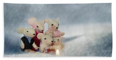 Mouse In Snow Hand Towel by Heike Hultsch