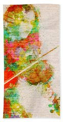 Music In My Soul Hand Towel by Nikki Smith