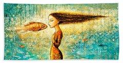 Mystic Mermaid Iv Hand Towel by Shijun Munns