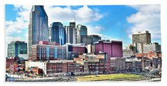 Nashville Eight By Ten Hand Towel by Frozen in Time Fine Art Photography