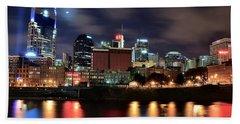 Nashville Skyline Hand Towel by Frozen in Time Fine Art Photography