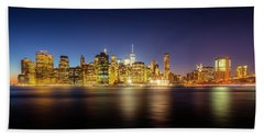 New York Skyline Hand Towel by Marvin Spates