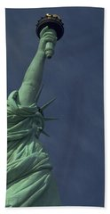 Hand Towel featuring the photograph New York by Travel Pics