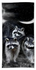 Night Bandits Hand Towel by Carol Cavalaris