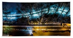 Hand Towel featuring the photograph Central Park by M G Whittingham