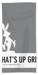 No06 My Minimal Color Code Poster Bugs Hand Towel by Chungkong Art
