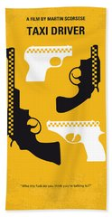 No087 My Taxi Driver Minimal Movie Poster Hand Towel by Chungkong Art