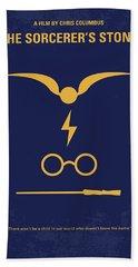 No101 My Harry Potter Minimal Movie Poster Hand Towel by Chungkong Art