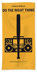 No179 My Do The Right Thing Minimal Movie Poster Hand Towel by Chungkong Art