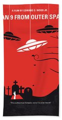 No518 My Plan 9 From Outer Space Minimal Movie Poster Hand Towel by Chungkong Art