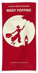 No539 My Mary Poppins Minimal Movie Poster Hand Towel by Chungkong Art