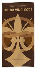 No548 My Da Vinci Code Minimal Movie Poster Hand Towel by Chungkong Art