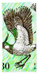 Northern Lapwing  Hand Towel by Lanjee Chee