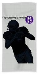 Northwestern Football Hand Towel by David Dehner