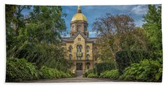 Notre Dame University Q1 Hand Towel by David Haskett