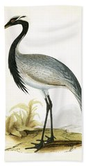 Numidian Crane Hand Towel by English School